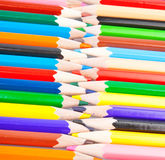 Pencils zipper Stock Images