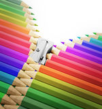 Pencils zipper Stock Photo