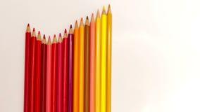 Pencilsmove di colore un'onda, fermata-moto stock footage