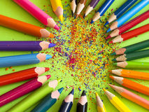 Pencls de Colorul Foto de archivo