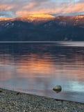 Pend Oreille湖在北部爱达荷 免版税库存图片