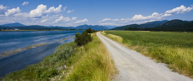 Pend Oreille River Road Royalty Free Stock Photography