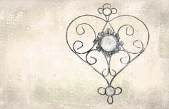 Pendant à jour de coeur Calibre pour des cartes de voeux, enveloppes, invitations de mariage, éléments décoratifs intérieurs Cart Image stock