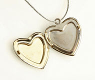 Pendant. With opened silver heart Stock Photography