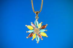Pendant against colour gradient Royalty Free Stock Image
