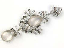 Pendant avec des perles et des diamants image libre de droits