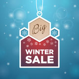 Pendant Big winter sale beige and wine-colored Stock Photography