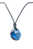 Pendant /stone. Pendant / blue stone, isolated on white Royalty Free Stock Photography