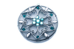Pendant with blue stones Stock Image