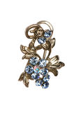 Pendant with blue stones Royalty Free Stock Images