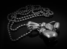 Pendant - Boxing gloves - Stainless Steel Stock Photography