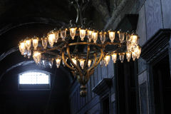 Pendant chandelier of Hagia Sophia Stock Photography