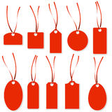 Pendant Collection -  red and white Royalty Free Stock Image