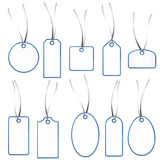 Pendant Collection - white and blue Royalty Free Stock Photo