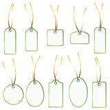 Pendant Collection - white and green Royalty Free Stock Image