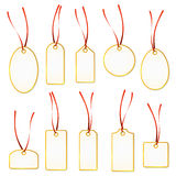 Pendant Collection - white and yellow Stock Photos