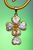 Pendant of a crucifix Stock Photos