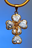Pendant of a crucifix Royalty Free Stock Image