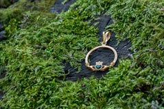 Pendant de Claddagh d'engagement Photographie stock libre de droits