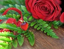 Pendant de coeur pour la valentine Photographie stock libre de droits