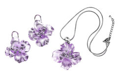Pendant and earrings Royalty Free Stock Photo