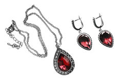 Pendant and earrings Royalty Free Stock Photography