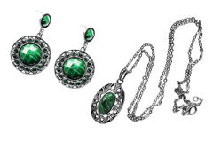 Pendant and earrings Stock Photography