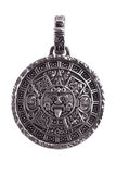 Pendant engraved with the Mayan calendar Stock Images