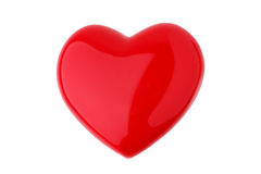 Pendant in the form of red glass heart Royalty Free Stock Photo