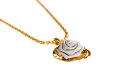 Pendant in form of rose Stock Images