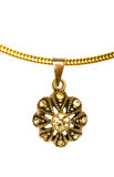 Pendant on golden chain Royalty Free Stock Photo