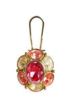 Pendant on golden chain Royalty Free Stock Images