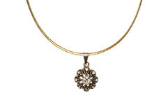 Pendant on golden chain Royalty Free Stock Image