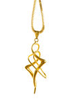 Pendant on golden chain Stock Photo
