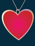 Pendant of the heart Royalty Free Stock Photography