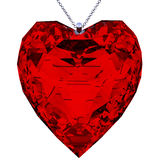 Pendant heart shaped red Royalty Free Stock Image