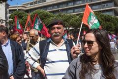 Pendant la célébration du mayday au centre de la ville Photographie stock libre de droits