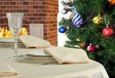 Pendant la nouvelle année préservée table image libre de droits