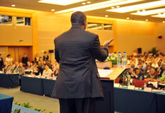 Pendant la présentation Photos libres de droits