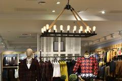 Pendant lamp in fashion shop Stock Image