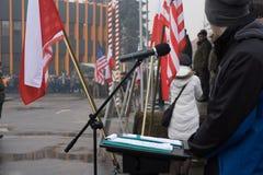 Pendant le rassemblement photo libre de droits