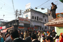 Pendant les célébrations Makar Sankranti Image libre de droits