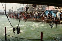 Pendant les célébrations Makar Sankranti Images stock