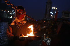 Pendant les célébrations Makar Sankranti Image stock