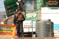 Pendant les célébrations Makar Sankranti festival Images stock