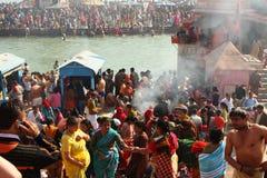 Pendant les célébrations Makar Sankranti festival Photos stock