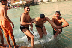 Pendant les célébrations Makar Sankranti Images libres de droits