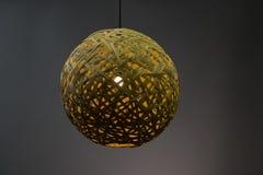 Pendant light lamp illuminated, Elegant Chandelier illuminated stock photo