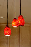 Pendant Lights in Kitchen Royalty Free Stock Images
