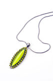 Pendant necklace. From platinum or silver stock photography
